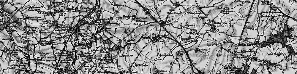 Old map of Ansty in 1899