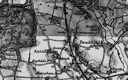 Old map of Antingham Hall in 1898