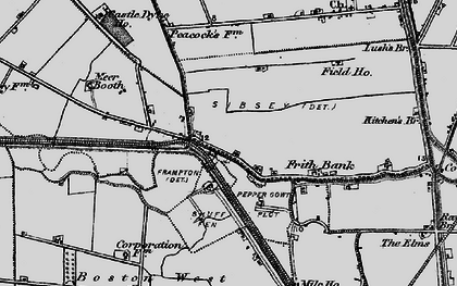 Old map of Anton's Gowt in 1898