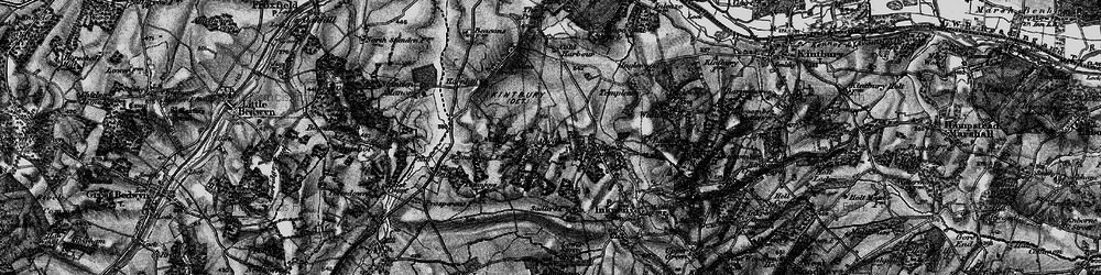 Old map of Anvilles in 1895