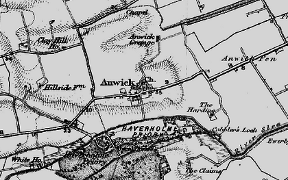 Old map of Anwick in 1898