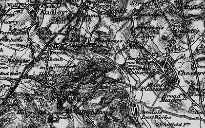 Old map of Apedale in 1897