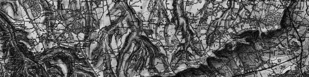 Old map of Aperfield in 1895