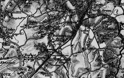 Old map of Apes Dale in 1898