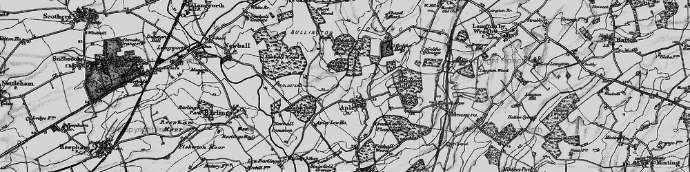 Old map of Apley in 1899