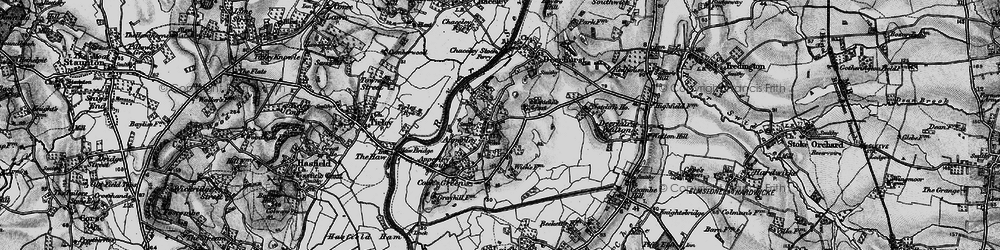 Old map of Wightfield Manor in 1896