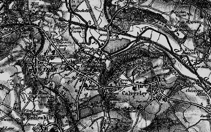 Old map of Apperley Bridge in 1898