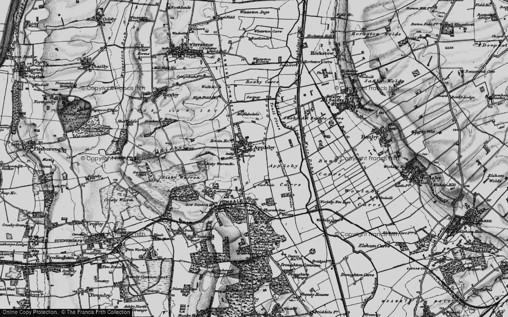 Old Map of Appleby, 1895 in 1895
