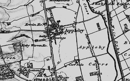 Old map of Appleby in 1895
