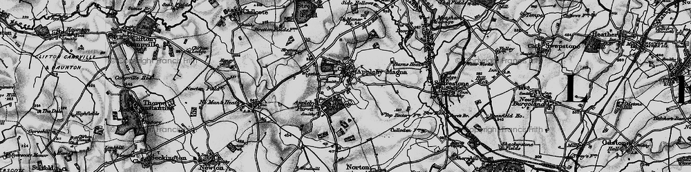 Old map of Appleby Magna in 1895