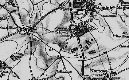 Old map of Appleby Parva in 1895