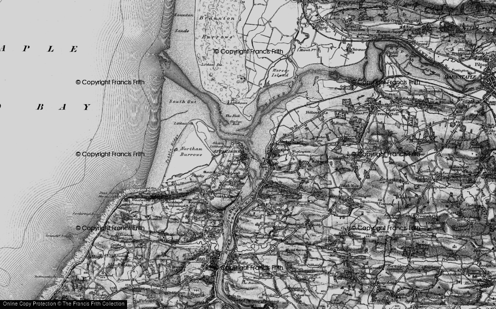 Old Map of Appledore, 1895 in 1895