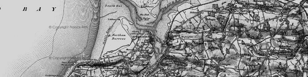 Old map of Appledore in 1895