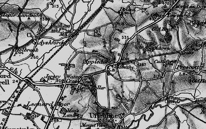Old map of Leonard Moor in 1898