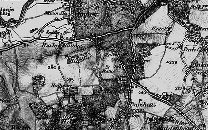 Old map of Applehouse Hill in 1895