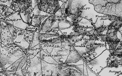 Old map of Yew Tree Heath in 1895