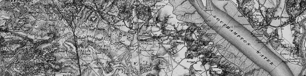 Old map of Applemore in 1895