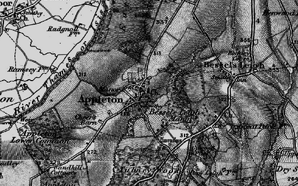 Old map of Appleton in 1895