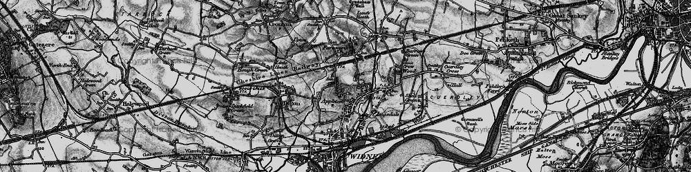 Old map of Appleton in 1896