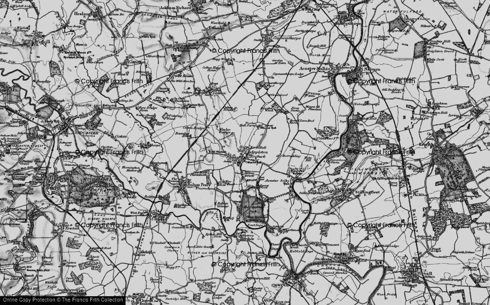 Old Map of Historic Map covering Woolas Grange in 1898