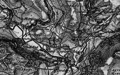 Old map of Appletreewick in 1898