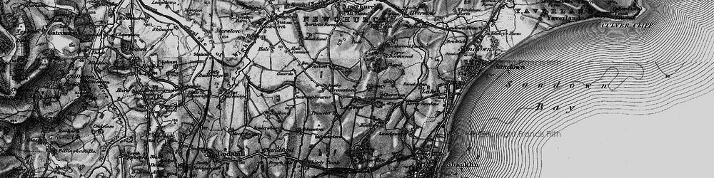 Old map of Apse Heath in 1895