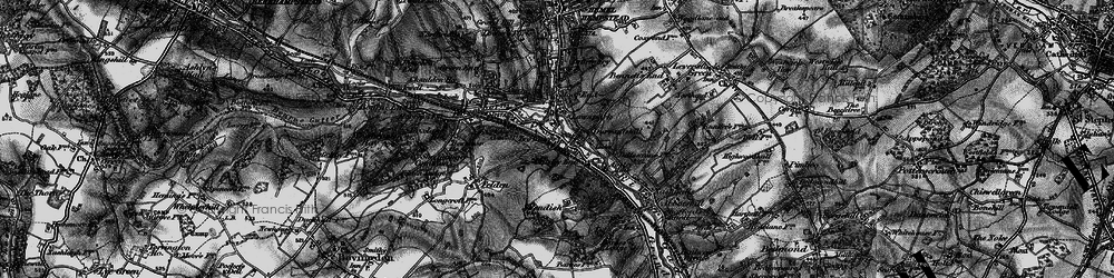 Old map of Apsley in 1896