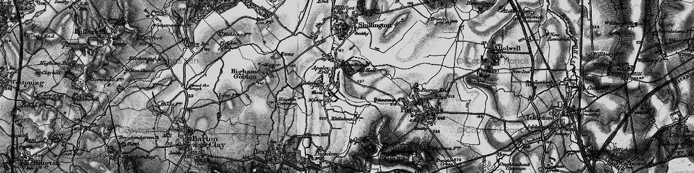 Old map of Apsley End in 1896