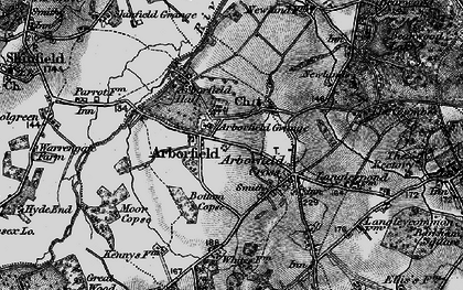 Old map of Arborfield in 1895