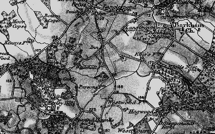Old map of Arborfield Garrison in 1895