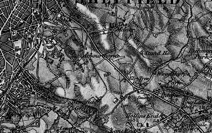 Old map of Arbourthorne in 1896