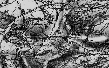 Old map of Archenfield in 1896