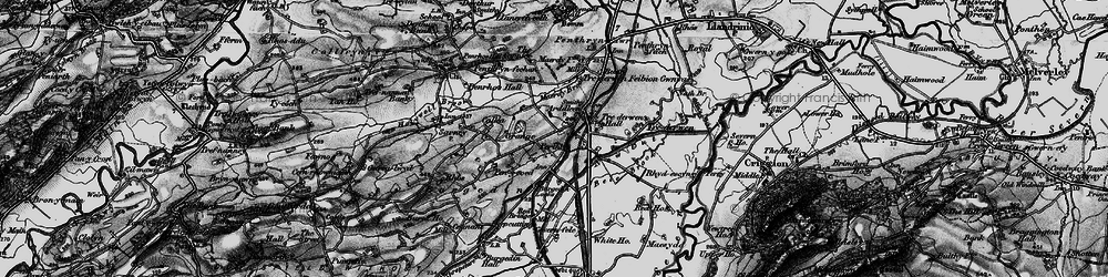 Old map of Arddleen in 1897
