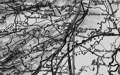Old map of Arddleen/Arddlîn in 1897