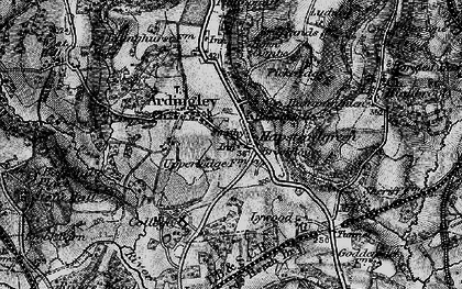 Old map of Ardingly in 1895