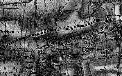 Old map of Ardington Ho in 1895