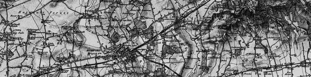 Old map of Ardleigh Green in 1896