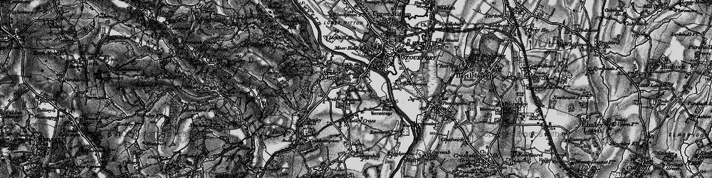 Old map of Areley Kings in 1898