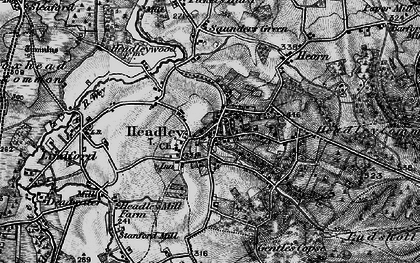 Old map of Tignals in 1895