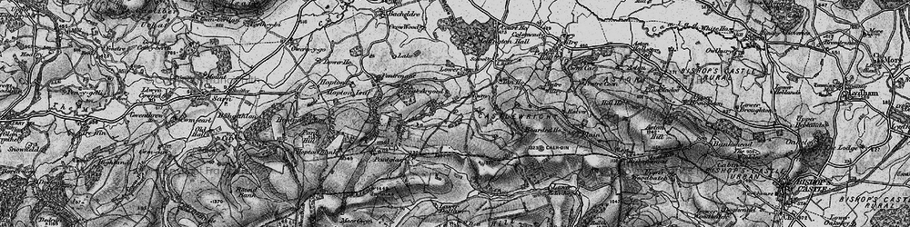 Old map of Argoed in 1899