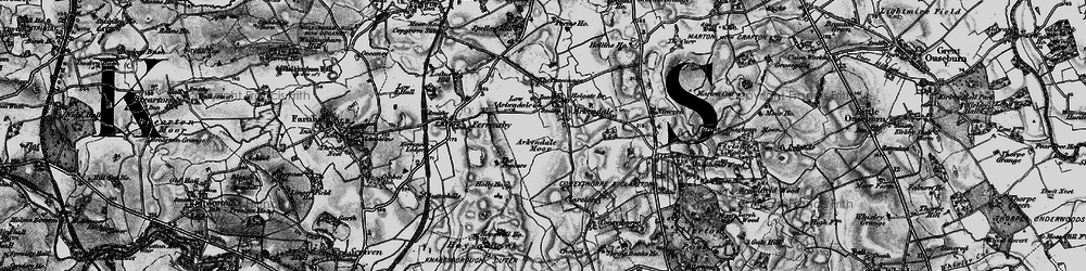 Old map of Arkendale in 1898