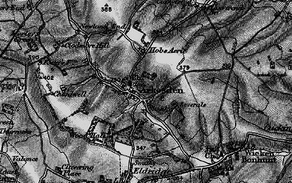 Old map of Arkesden in 1896