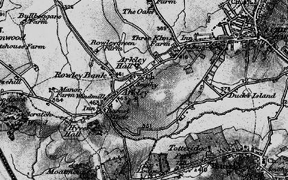 Old map of Arkley in 1896
