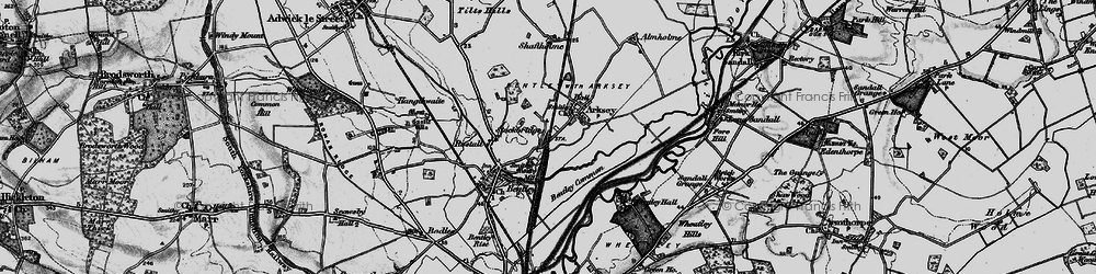 Old map of Arksey in 1895