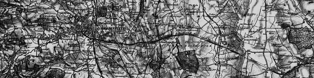 Old map of Arkwright Town in 1896