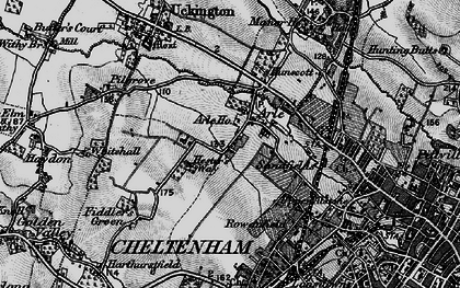 Old map of Arle in 1896
