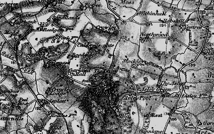 Old map of Badgers Croft in 1896