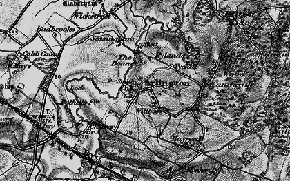 Old map of Tye Hill in 1895