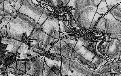 Old map of Arlington in 1896