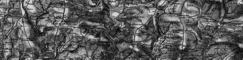 Old map of White Cawsey in 1898